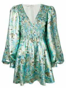 Stella McCartney floral print metallic dress - Green