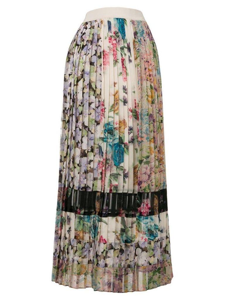 Zimmermann NInety-Six pleated skirt - Neutrals