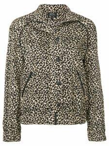A.P.C. leopard print jacket - Black
