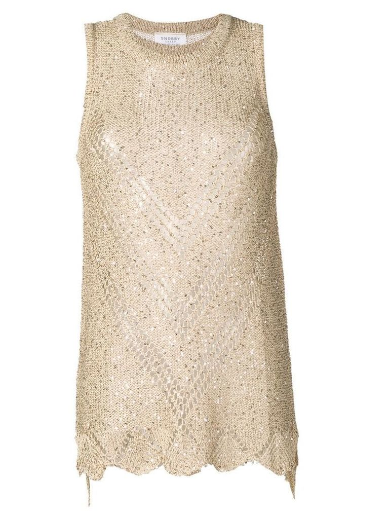 Snobby Sheep knitted top with sequins - Neutrals
