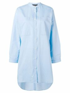 Joseph oversized grandad collar shirt - Blue