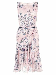 Marchesa Notte floral print dress - Pink