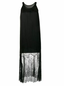 McQ Alexander McQueen pleated lace maxi dress - Black