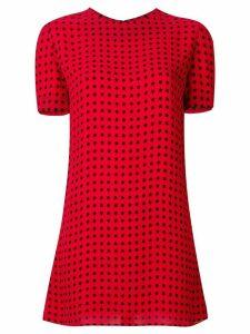 Saint Laurent stars print mini dress - Red