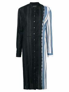 Suzusan panelled stripe shirt dress - Black