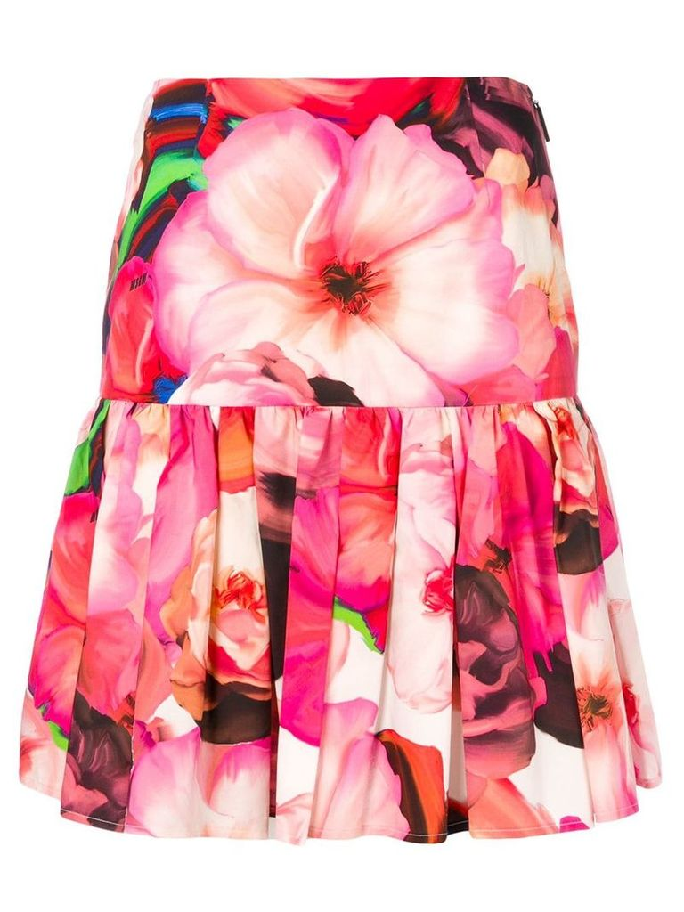 MSGM floral print pleated skirt - Pink