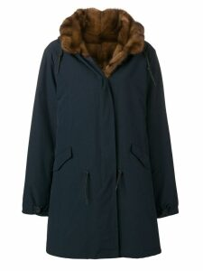 Liska hooded zip-up coat - Blue