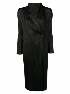 Pleats Please By Issey Miyake black lightweight coat