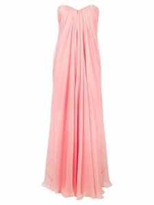 Alexander McQueen chiffon bustier gown - Pink