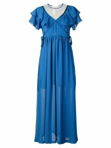 Philosophy Di Lorenzo Serafini ruffled long dress - Blue