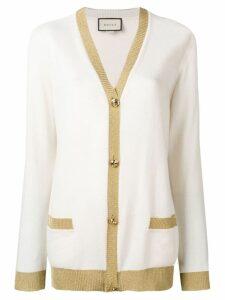 Gucci lurex detail cardigan - Neutrals