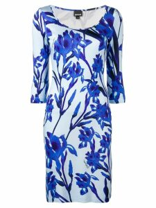 Just Cavalli fitted floral dress - Blue