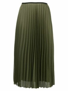 Moncler pleated satin skirt - Green