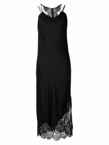 Gold Hawk lace trim slip dress - Black