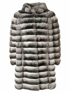 Liska Doreen hooded oversized coat - Grey