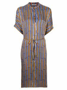 Christian Wijnants Dipha bamboo print dress - Orange