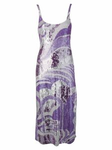 Emilio Pucci cami-styled sequinned dress - PURPLE