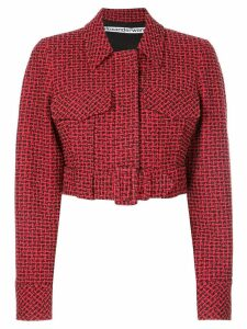 Alexander Wang belted cropped jacket - Red