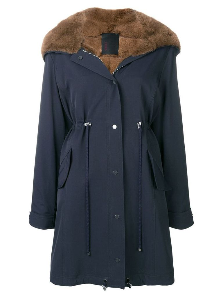 Liska hooded parka coat - Blue