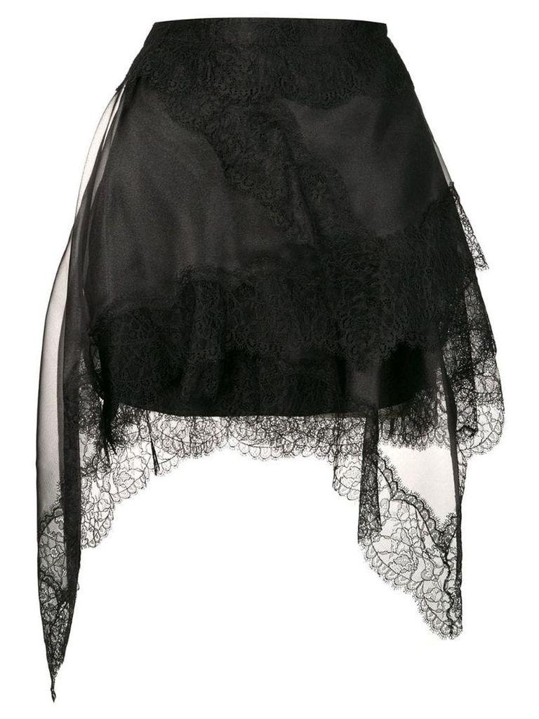 Ermanno Scervino black lace skirt