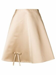 Prada bow detail flared skirt - Neutrals