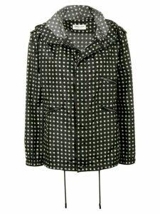 Saint Laurent star print hooded jacket - Black