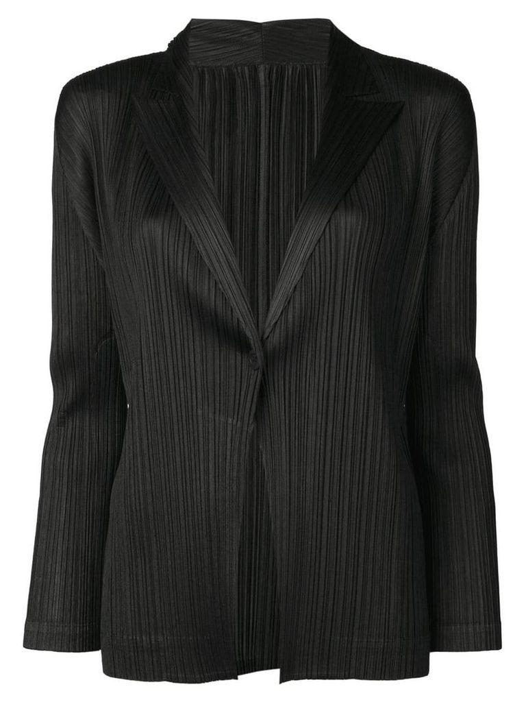 Pleats Please By Issey Miyake black blazer jacket