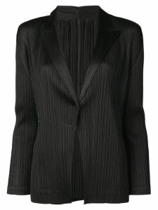 Pleats Please By Issey Miyake black blazer jacket