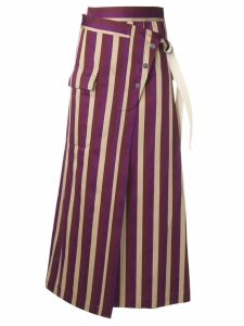 Golden Goose striped high-waisted skirt - PURPLE
