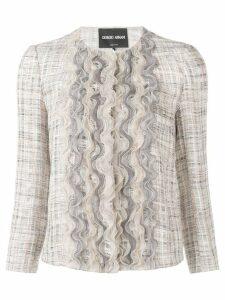 Giorgio Armani ruffle detail shirt - Neutrals