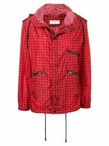Saint Laurent star print hooded jacket - Red