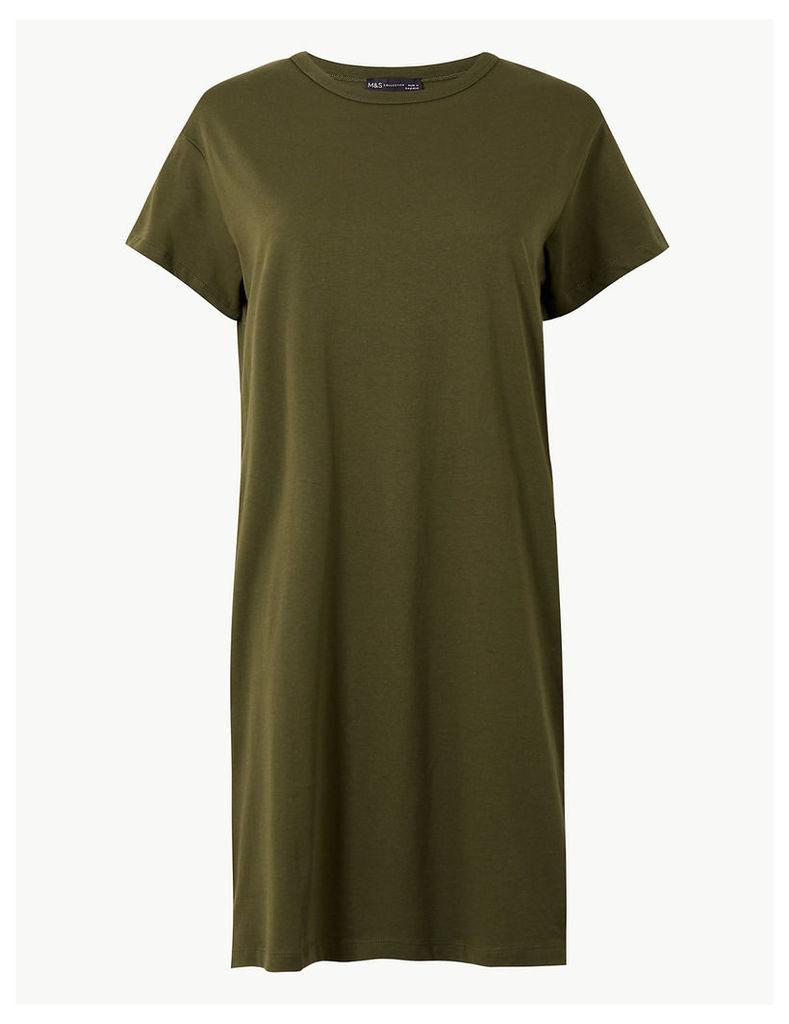 M&S Collection Pure Cotton T-Shirt Dress