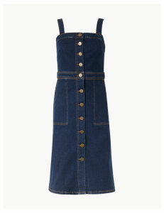 M&S Collection Denim Button Detailed Bodycon Dress