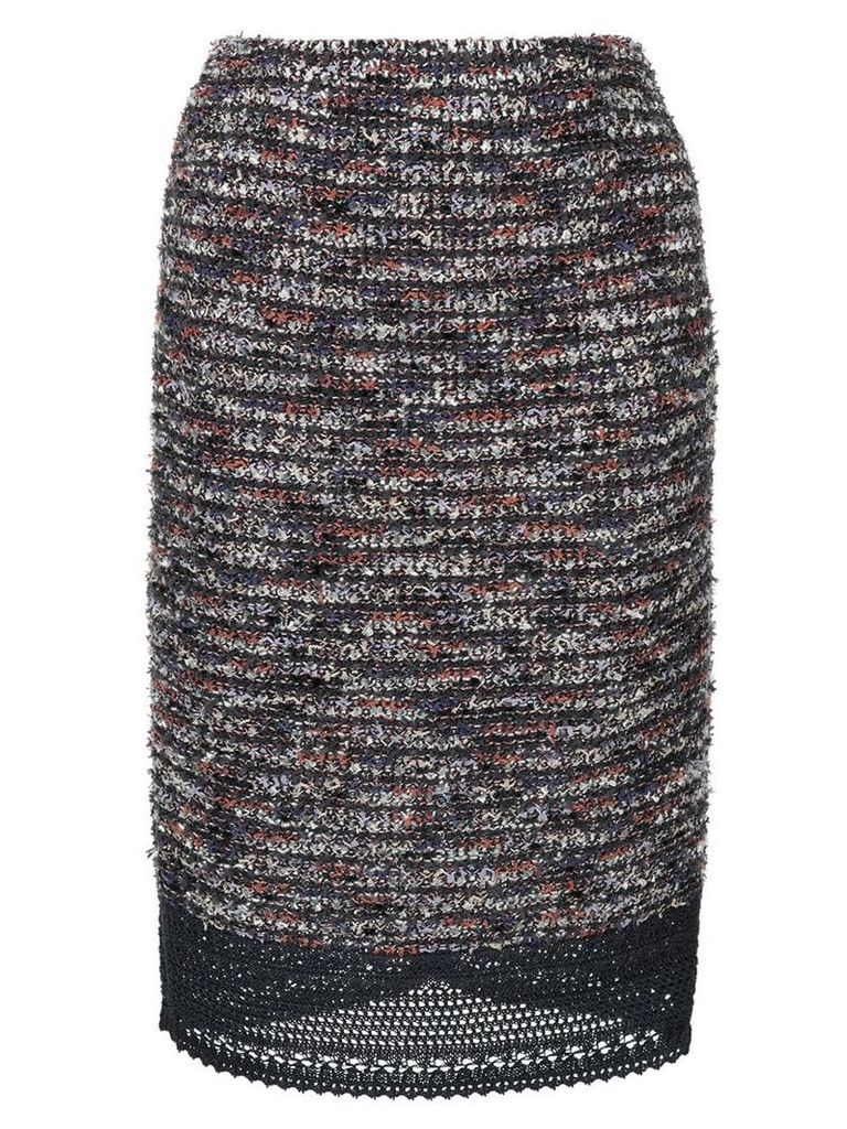 COOHEM summer flag tweed skirt - Multicolour