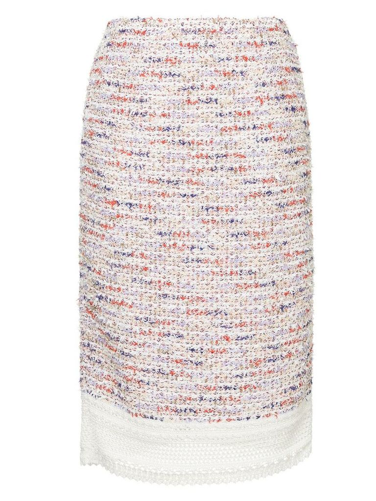 COOHEM tweed pencil skirt - Multicolour