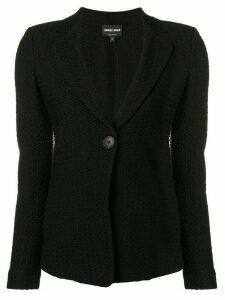 Giorgio Armani single button blazer - Black