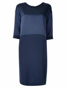 Knott bi-material dress - Blue