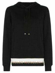 Moncler logo-hem cotton-blend hoodie - Black