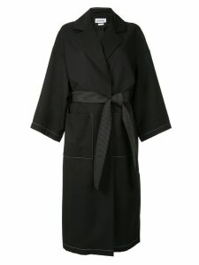 Loewe oversized mid-length coat - Black