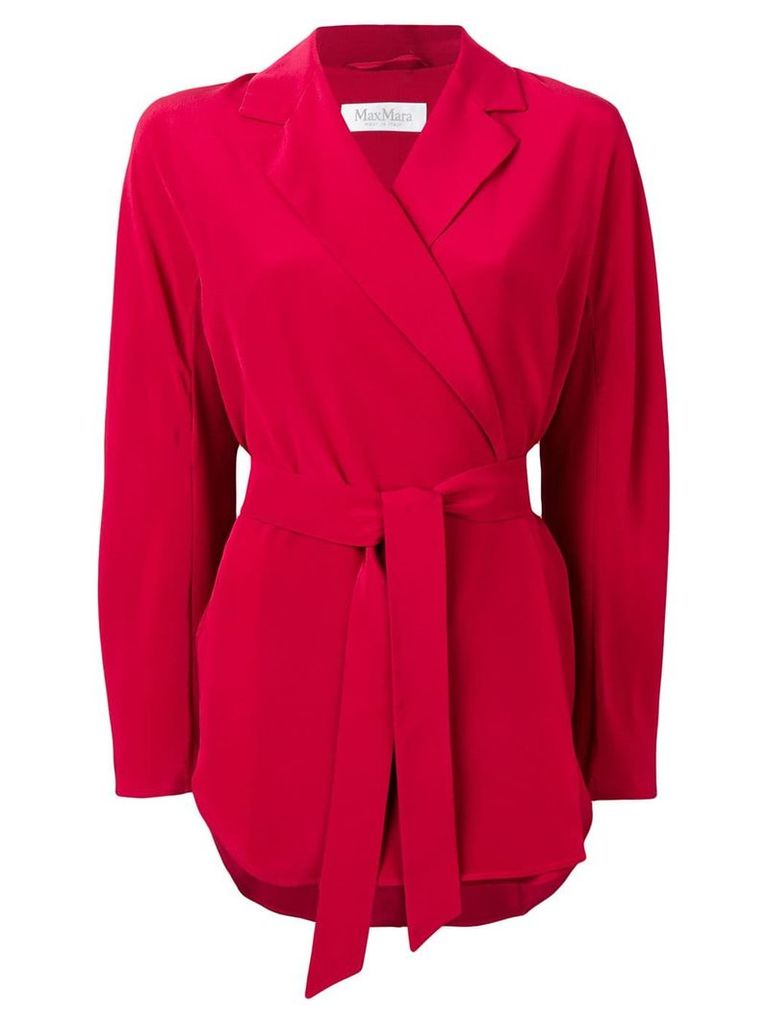 Max Mara Nativa wrap blazer - Red