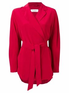 Max Mara Nativa wrap blazer - Red