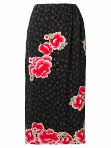 Simone Rocha floral midi skirt - Black