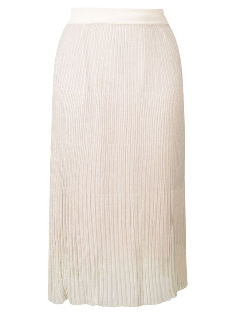 Marco De Vincenzo straight fit ribbed skirt - Neutrals