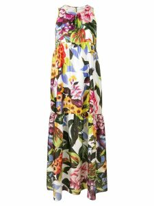 Blugirl floral panelled maxi dress - Green