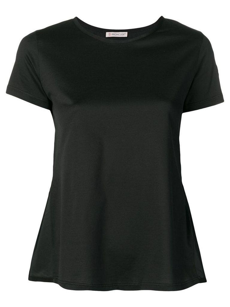 Moncler black peplum T-shirt