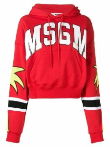 MSGM logo hooded sweatshirt - Red