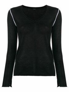 Joseph knitted v-neck jumper - Black