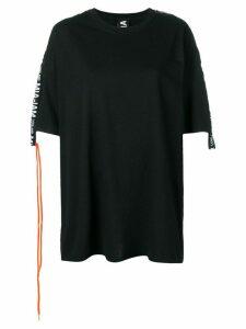 Mia-iam logo strap T-shirt dress - Black