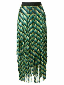 Marco De Vincenzo paneled embroidered bead skirt - Green