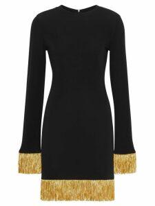 Burberry metallic fringe detail stretch jersey dress - Black